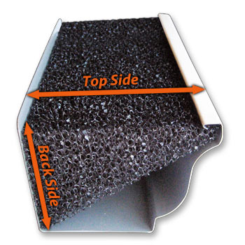 "AllOut!™:  Foam Gutter Inserts for K-Style Gutters- 12pk 5"" K-Style $89.88  48ft.  FREE DELIVERY!"