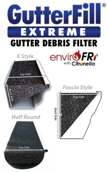 "GutterFill® Extreme-   ""Tri-Angled Foam Filter"""